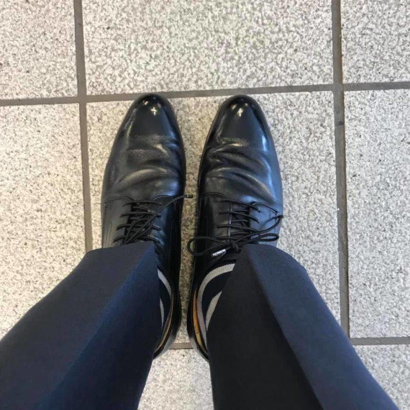 靴磨き 終わった後